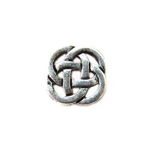TierraCast Pewter Antique Silver Plated 8.5mm Celtic Open Link x1