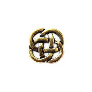 TierraCast Pewter Antique Gold Plated 8.5mm Celtic Open Link x1