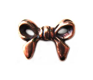 TierraCast Pewter Antique Copper Plated 13.6mm Bow Bead x1
