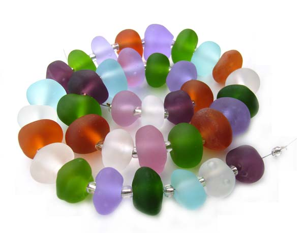 Sea Glass Gems - Ian Williams Artisan Glass Lampwork Beads