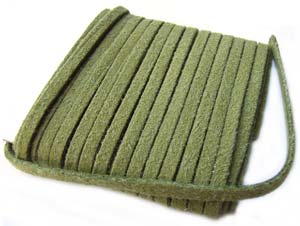 Faux Micro Suede Flat Cord 3mm ~ Olive per metre
