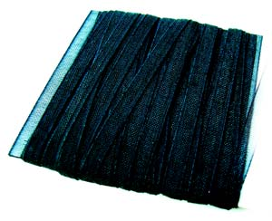 Organza Ribbon 3mm ~ Black 5m