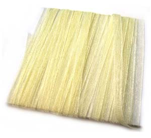 Organza Ribbon 3mm ~ Light Cream Gold 5m