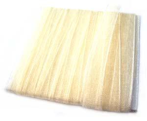 Organza Ribbon 6mm ~ Cream 5m