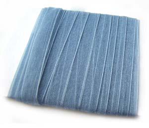 Organza Ribbon 6mm ~ Silver Slate 5m