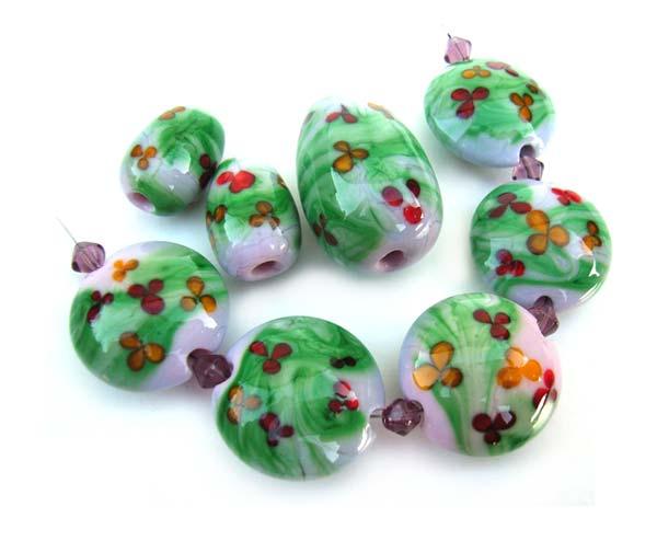 Topsy Turvy Garden - Ian Williams Artisan Glass Lampwork Beads