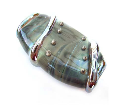 "Tranquil Reflection 1.3"" Focal Bead Ian Williams Artisan Glass Lampwork Bead x1"