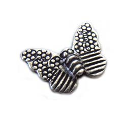 Thai Karen Hill Tribe Silver - 15.5x12mm Butterfly Bead x1