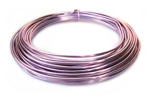 Aluminium Wire 12 gauge x39ft / 12m - Rose