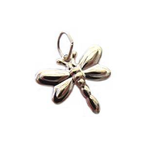 Gold Filled Charms - 14x12.5mm Embossed Dragonfly Charm x1