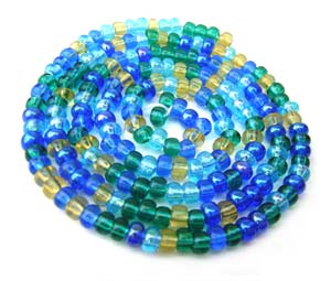 Czech Seed Beads 6/0 Lagoon 1 mini Hank