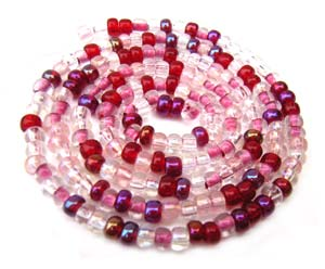 Czech Seed Beads 8/0 Strawberry 1 mini Hank