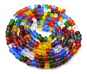 Czech Seed Beads 6/0 Rainbow 1 mini Hank