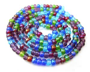 Czech Seed Beads 8/0 Gemtones 1 mini Hank
