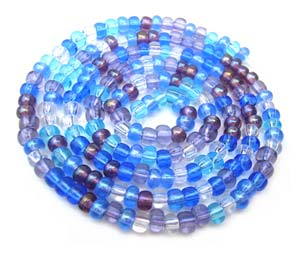 Czech Seed Beads 6/0 Caribbean Blue 1 mini Hank