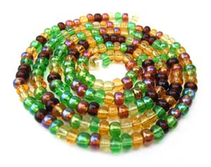 Czech Seed Beads 6/0 Earth Tone 1 mini Hank
