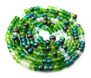 Czech Seed Beads 8/0 Evergreen 1 mini Hank