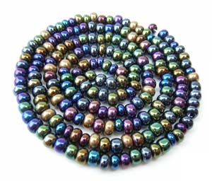 Czech Seed Beads 6/0 Heavy Metal 1 mini Hank
