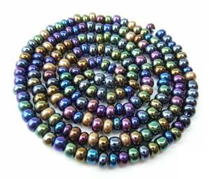 Czech Seed Beads 6/0 Heavy Metal 1 mini Hank