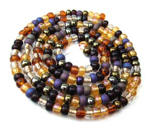 Czech Seed Beads 8/0 Wheatberry 1 mini Hank