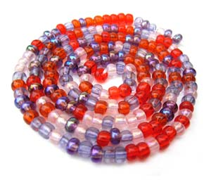 Czech Seed Beads 6/0 Melonberry 1 mini Hank