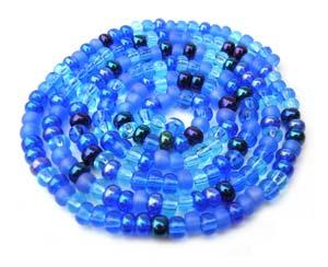 Czech Seed Beads 6/0 Blue Tones 1 mini Hank
