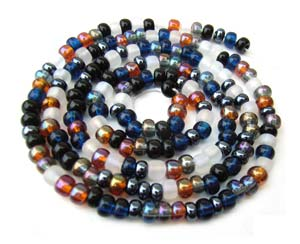 Czech Seed Beads 8/0 Pebblestone 1 mini Hank