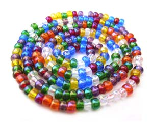Czech Seed Beads 6/0 Rainbow AB 1 mini Hank