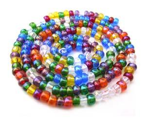 Czech Seed Beads 6/0 Rainbow AB 1 mini Hank