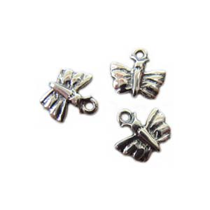 Sterling Silver Charms - 7mm Teeny Tiny Butterfly Charm x1