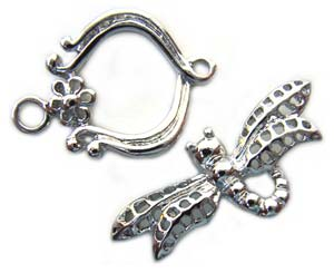 Dragonfly Clasp Platinum Plated Toggle x1