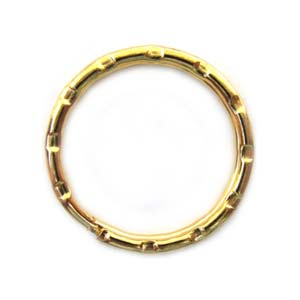 Key-Ring Finding 25mm Split Key Ring Gold Tone x1