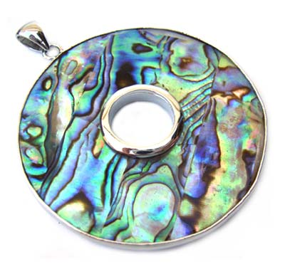 Paua Shell Pendant 52mm - Donut