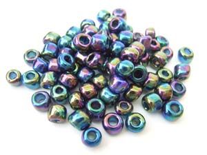 Glass Seed Beads 6/0 - 4mm Iris Purple 50g