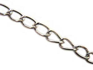 Chain Link 5.3x3mm Nickel Tone x100cm