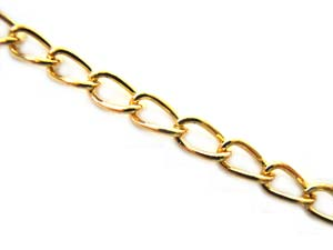 Chain Link 5.3x3mm Gold Tone x100cm