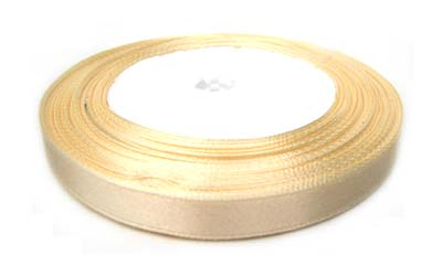 Satin Ribbon 10mm - Cream 25yd roll - 22.85m