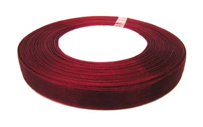 Organza Ribbon 12mm - Claret 50yd roll - 45m