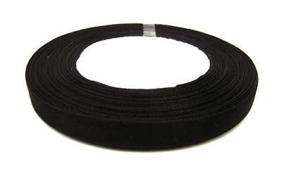 Organza Ribbon 12mm - Black 50yd roll - 45m