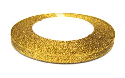 Metallic Ribbon 12mm - Gold 25yd roll - 22.85m