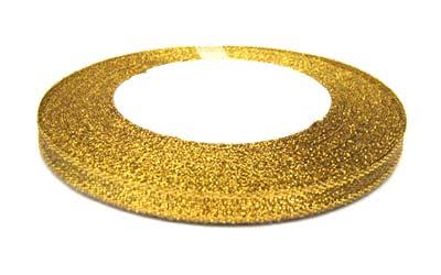 Metallic Ribbon 12mm - Gold 25yd roll - 22.85m