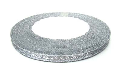 Metallic Ribbon 10mm - Silver 25yd roll - 22.85m