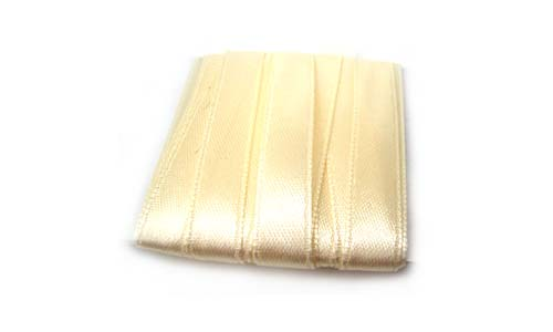 Satin Ribbon 10mm - Cream 3m