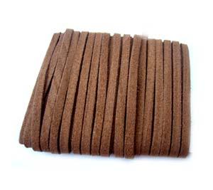 Faux Micro Suede Flat Cord 3mm - Coffee Brown per metre