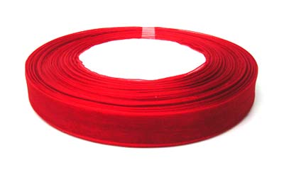 Organza Ribbon 12mm - Scarlet Red 50yd roll - 45m