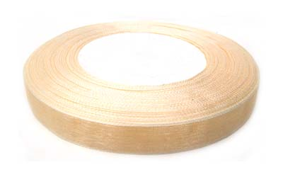 Organza Ribbon 10mm - Cream 50yd roll - 45m