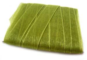 Organza Ribbon 12mm - Olive Green 5m