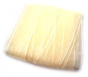 Organza Ribbon 10mm - Cream 5m