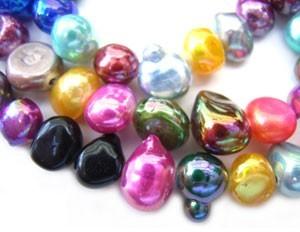 "Erose Pearl Shell Beads 15"" - 40cm strand - Gelati AB"