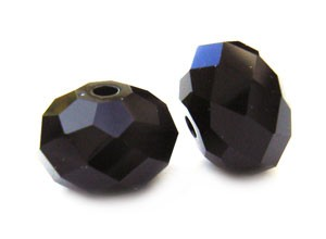 Swarovski Crystal Beads Roundelle 8mm Jet